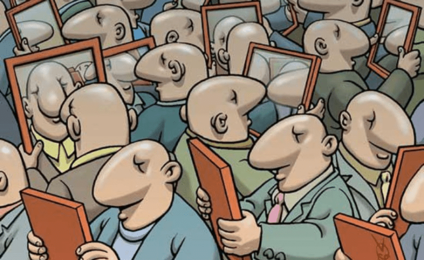 egoismo, verse en el espejo