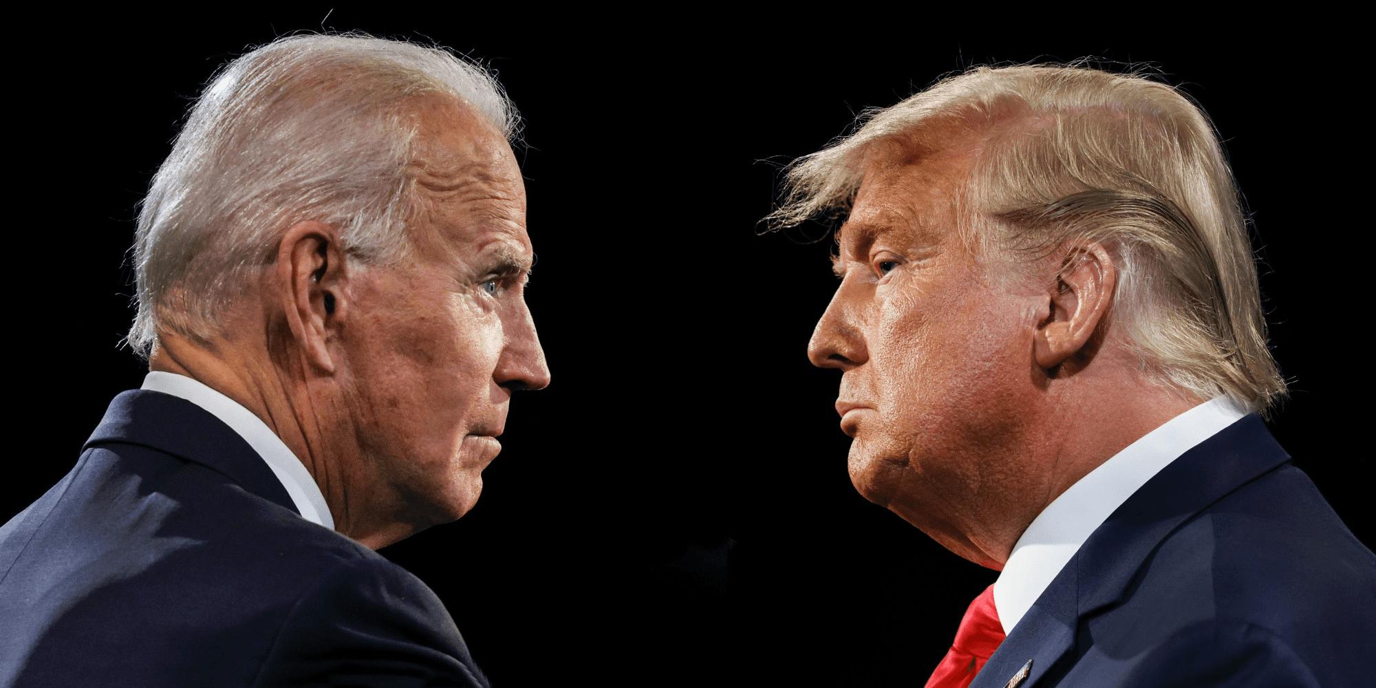 Trump y Joe Biden