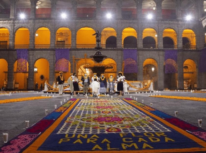 Ofrenda Palacio Nacional, Día de Muertos