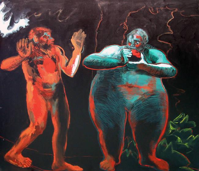 Adan y Eva segun Rembrandt