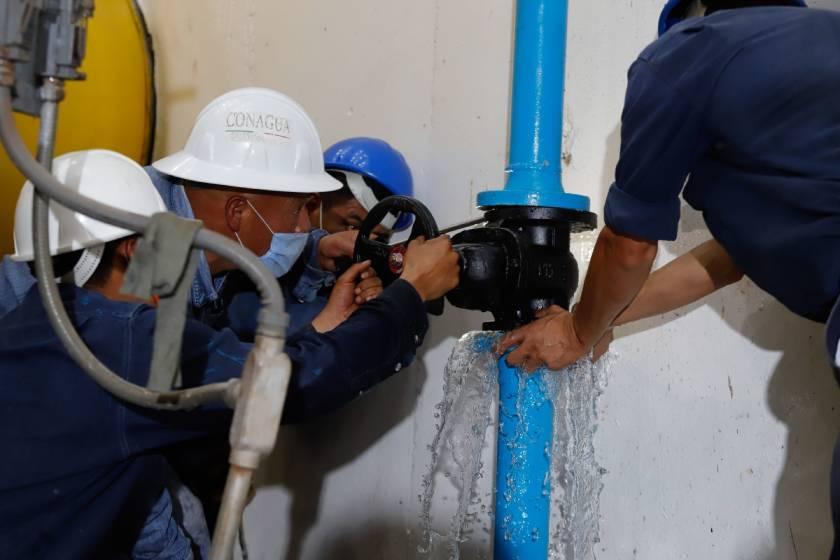 Reducción de agua alcaldías