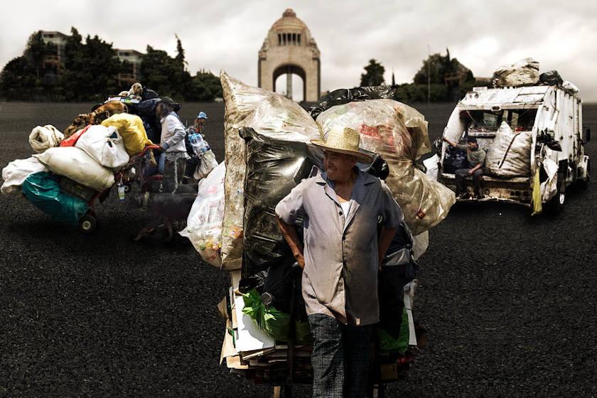 trabajadores de limpia