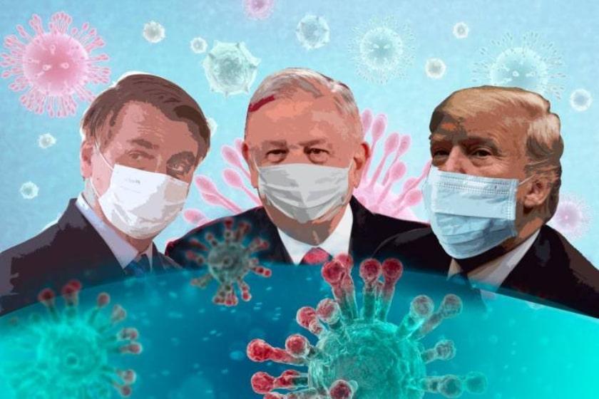brasil, México, Estados Unidos, pandemia