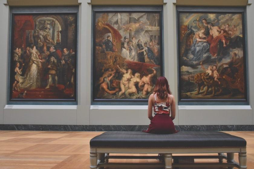 experiencia estetica en un museo