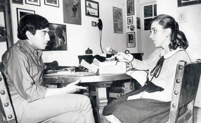 Elena Poniatowska y Gustavo Sainz