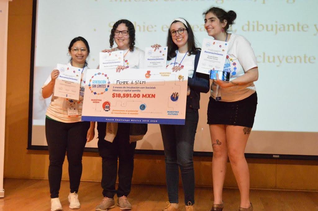 Equipo de mexicanas ganó concurso realizado por la UNICEF.