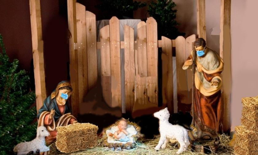 nacimiento navidad con cubrebocas