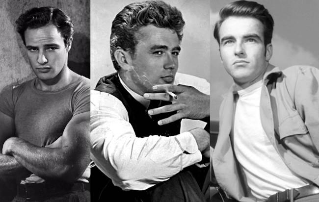 Marlon Brando, James Dean y Montgomery Clift