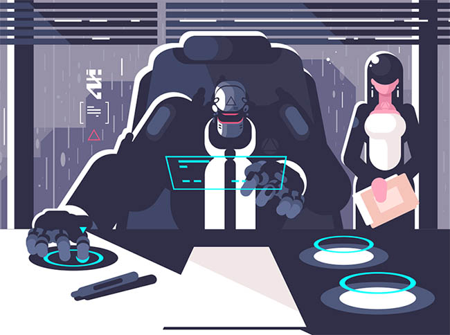 hombres del futuro cyborg