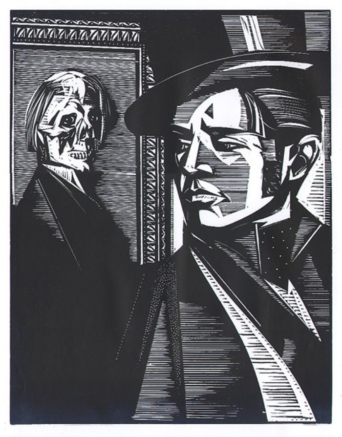 Grabado sobre el retrato de Dorian Gray de Oscar Wilde