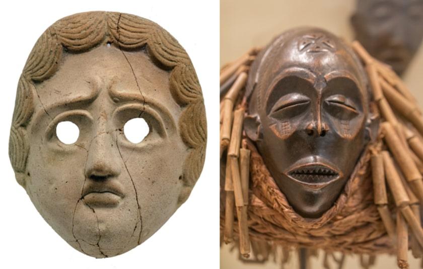 Máscara turdetana encontrada en una tumba en Utrera
