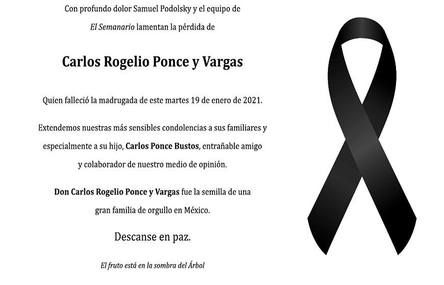 Carlos Rogelio Ponce y Vargas
