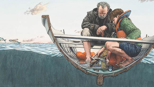 escape del barco