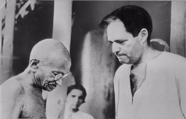 Mahatma Gandhi y Louis Fischer