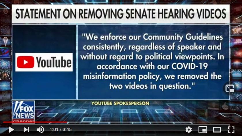 Youtube quita videos del senador estadounidense