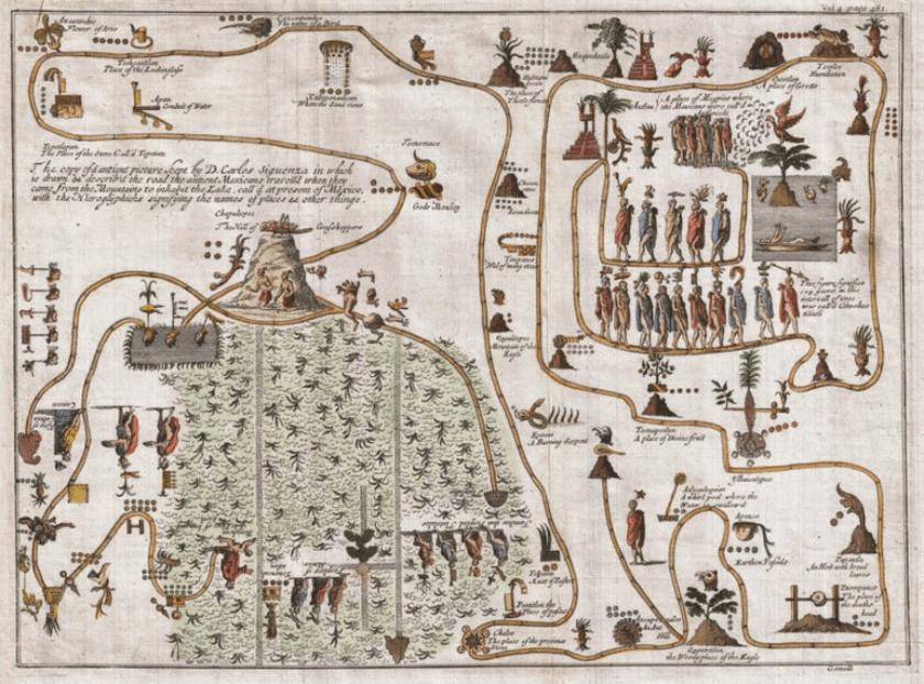 Mapa de Gemelli Careri