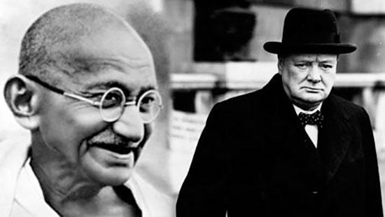 Gandhi y churchill